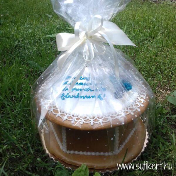 Mézeskalács doboz esküvőre díszcsomagolásban